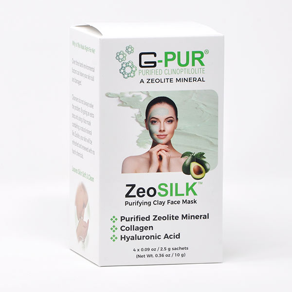 ZeoSILK 4-count with clay face mask packaging